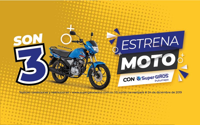 Estrena Moto con SuperGIROS en Putumayo