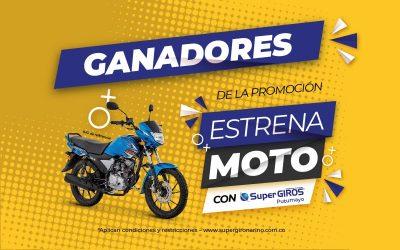 Ganadores Estrena moto con SuperGIROS