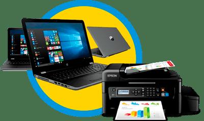 Combo tecnológico, computador + impresora